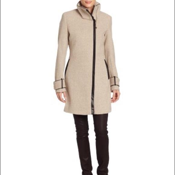 9ca5d4f9617f Calvin Klein Jackets   Blazers - Calvin Klein Women s Twill Faux Leather  Trim Coat
